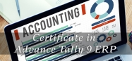 Certificate in Advance Tally 9 ERP